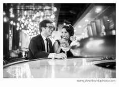 Adorable Vintage inspired Engagement photos via Michigan Wedding Photographers, Silver Thumb Photography, silverthumbphoto.com, Modern Detroit + Ann Arbor Michigan Wedding Photographer