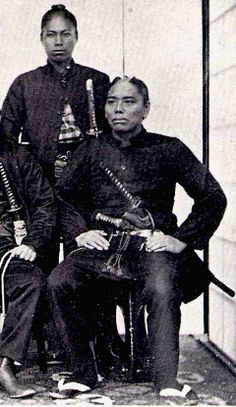 Samurai from the Satsuma clan, Boshin war era, late Real Samurai, Ronin Samurai, Samurai Weapons, The Last Samurai, Samurai Armor, Japanese History, Asian History, Black History, Boshin War