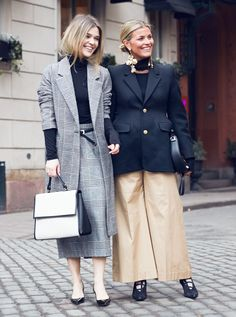 Check-check & statement ear arts!!!!  20 Outfits to Copy From Stockholm Fashion Week Street Style via @WhoWhatWear