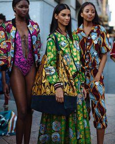 New York Fashion Week street style Nail Design, Nail Art, Nail Salon, Irvine, Newport Beach African Inspired Fashion, African Print Fashion, Africa Fashion, Ethnic Fashion, Fashion Prints, Fashion Design, African Prints, Ankara Fashion, African Textiles