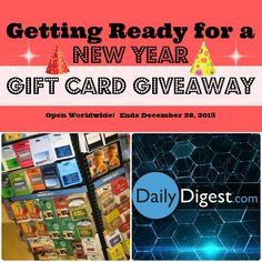 Getting Ready for a New Year Gift Card Giveaway Open Worldwide! Ends December 28, 2013
