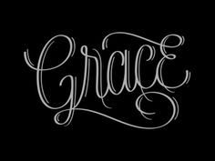 Like this font for a tattoo. Grace Lettering by Jude Landry Grace Tattoos, New Tattoos, Cool Tattoos, Tatoos, Random Tattoos, Spine Tattoos, Forearm Tattoos, Meaningful Word Tattoos, Meaningful Words