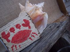 Crab Seahorse Dolphin Beach House Salvaged Wood by ELouiseBoutique, $6.50