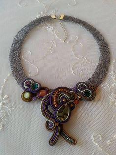 Soutache Necklace Meine Vision.Halskette  aus von BeadStArt auf Etsy