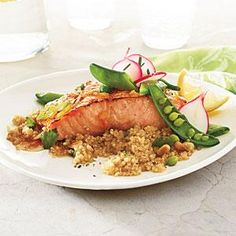 Serve with Snap Pea and Radish Sauté and Quinoa with Toasted Pine ...