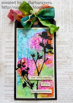 yaya scrap & more: SIMON SAYS : APRIL SHOWERS BRING MAY FLOWERS! (YUPO paper & alcohol inks))
