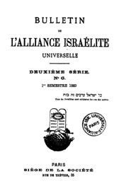 Bulletin de l'Alliance Israélite Universelle