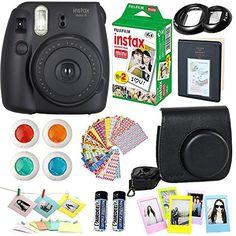 Grape Instant Film Camera Hellohelio 7-in-1 Accessories Bundle Set for Instax Mini 9 8 8