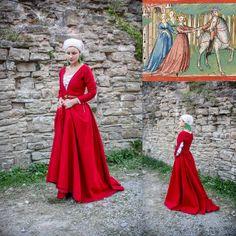 Dress based on Werkstatt Ludwig Henfflin (c. 1470): Friedrich von Schwaben