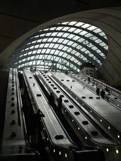 Canary Wharf tube entrance, Canary Wharf, London, England. (I lived in Canary Wharf)