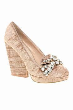KG Cayla velvet jewelled heeled shoes