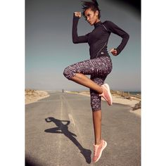 Active By Lascana Leggings Lila-bedruckt