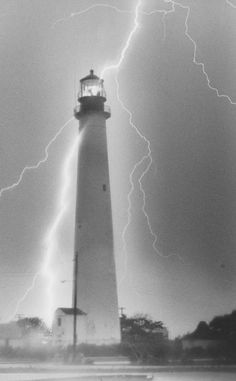 Lightning at Cape May Point Lighthouse