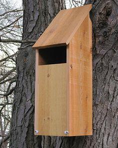 Select Cedar Slot Screech Owl House, Screech Owl Nesting Box, Cedar Screech Owl Houses at Songbird Garden