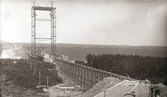 Pont de Quebec en 1905 Quebec Montreal, Quebec City, Chute Montmorency, Chateau Frontenac, Le Petit Champlain, Canada, Belle Villa, Golden Gate Bridge, Vintage Photos