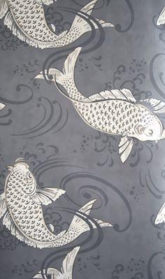 Tapete Derwent Von Osborne And Little Weis Dunkelgrau Fisch Englisch Wandgestaltung