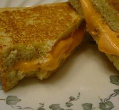 Pound cake and colored icing 'grilled cheese'