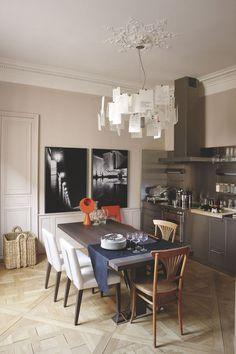Une cuisine en harmonie avec la salle à manger