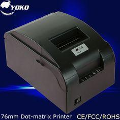 80.00$  Watch now - http://aliqv2.worldwells.pw/go.php?t=32748825990 - 76mm thermal receipt Dot-Matrix Printer YK-76  USB Interface