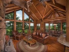 Luxury Log Cabin with custom cliff side hot tub, views of Branson SkylineVacation Rental in Branson from @homeaway! #vacation #rental #travel #homeaway