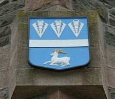 On the monument of the battle of harlaw  nick named red harlaw because of the blood that was shed the davidson  shield is representing davidson.