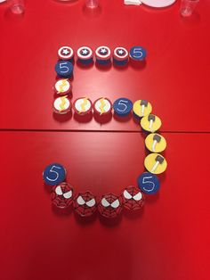 Superhero cupcakes Five year old birthday