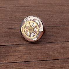 Steampunk Ring, Watch Ring, Antique copper ring, Watch Parts Ring, Adjustable Ring, Gears ring, Cogs ring, adjustable ring, Resin ring