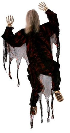 climbing zombie halloween decoration 5 ft tree man scary porch wall indoor out - Zombie Halloween Decorations