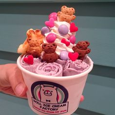 Teddy bear ice cream rolls #tokyo #icecreamrolls