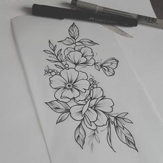 Tattoo Women Shoulder Flowers Ideas female tattoo - delicate feminine tattoo - tattoo female arm - tattoo rib female - female anchor tattoo - tattoo different female - tatt Small Rib Tattoos, Ankle Tattoo Small, Wrist Tattoos, Flower Tattoos, Body Art Tattoos, Tattoo Floral, Butterfly Tattoos, Classy Tattoos, Cute Tattoos