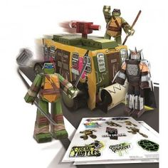 With the Teenage Mutant Ninja Turtles Shellraiser Vehicle Pack, Turtles fans can build the Shellraiser, Leonardo, Donatello, Shredder, and accessories out of paper.