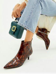 84f8c35bb Monki pointed kitten heel boot in tortoise brown | TrufflesandTrends.com Kitten  Heel Boots,