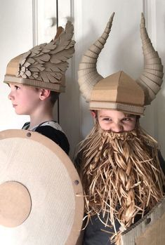 DIY Cardboard Viking Helmet Template. One template two different styles, horns o... -  DIY Cardboard Viking Helmet Template. One template two different styles, horns or wings. By Zygote  - #cardboard #different #DIY #diybasteln #diybedroom #diychristmas #diymanualidades #helmet #horns #styles #template #viking