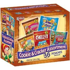 Keebler Cookie & Cracker Assortment, Pouches: Uncommonly made. Raw Food Recipes, Gourmet Recipes, Snack Recipes, Baby Snacks, Kid Snacks, Crunch Cereal, Road Trip Snacks, Big Meals, Cookies Et Biscuits