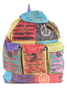 Drawstring Hippie Backpack