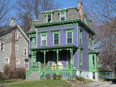 Academy Street Second Empire House, Poughkeepsie, NY. by joseph a, via Flickr