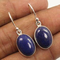 925 Sterling Silver Jewelry Earrings Natural LAPIS LAZULI Gemstones ! Wholesale #Unbranded #DropDangle