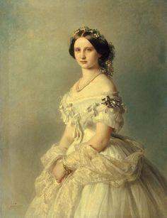Luise, Prinzessin von Preußen, Grand Duchess of Baden, wearing the Order of Louise. Portrait by Franz Xavier Winterhalter, ca. 1856