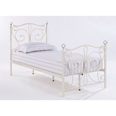 ed8f1811f306 Bonsoni Foyles Single Metal Bed Frame 3ft White by Lloyd Phillip and  Delric-30 Single