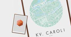 unique printed design posters handmade by emerybloom of sweden - see more talented artisans at blog.noorverk.com
