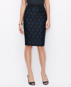 0541e100707d Petite Dot Jacquard Pencil Skirt - Popped with darling dots in high impact  colors, this to-the-point pencil skirt is always spot on.