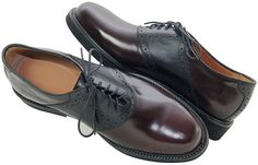 Burgundy and Black Oxford saddle shoes by Crick and Watson.