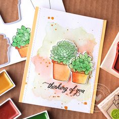Watercolored succulents by Mariana Grigsby