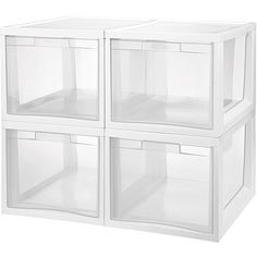 Sterilite Large Tall Modular Drawers White Available In
