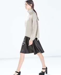ZARA - WOMAN - FAUX LEATHER MINISKIRT WITH SLITS