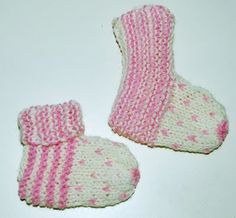 Purple crafts: Baby Socks Vauvan tossut, ohje