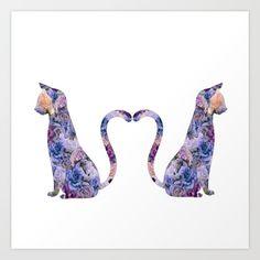 cats,cat, flowers, flower,purple, kitty, kat, vintage