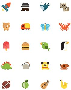 Flat icons / Nook HD icons - skwirrol / Flat design / #flat #icons #illustration