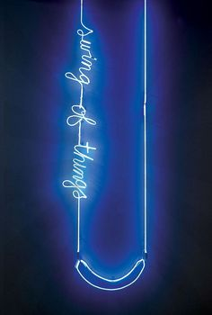 Swing of Things, by Meryl Pataky (hand sculpted neon light) Neon Light Signs, Neon Signs, Purple Tumblr, Custom Neon, Neon Words, Retro, Vintage Industrial Lighting, Vintage Light Fixtures, All Of The Lights