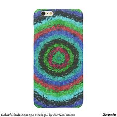 Colorful kaleidoscope circle pattern glossy iPhone 6 plus case